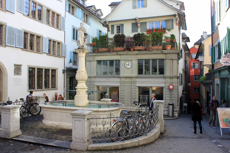 Zurich, Switzerland Water Fountains