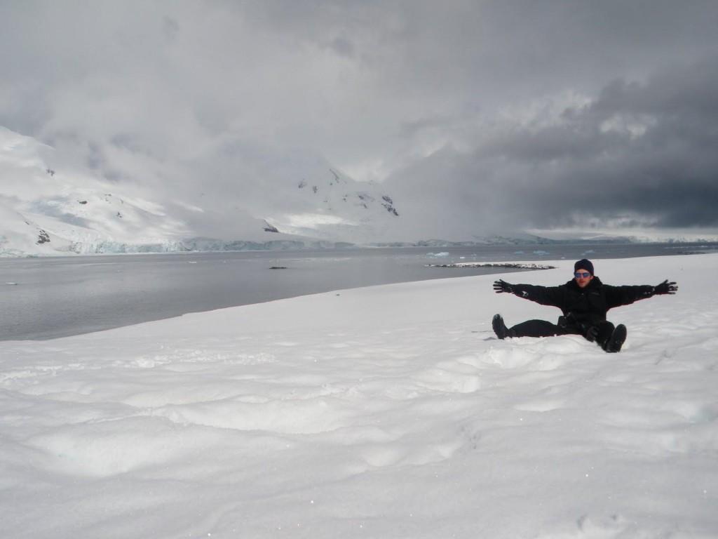 Jonny Blair at Half Moon Island Antarctica
