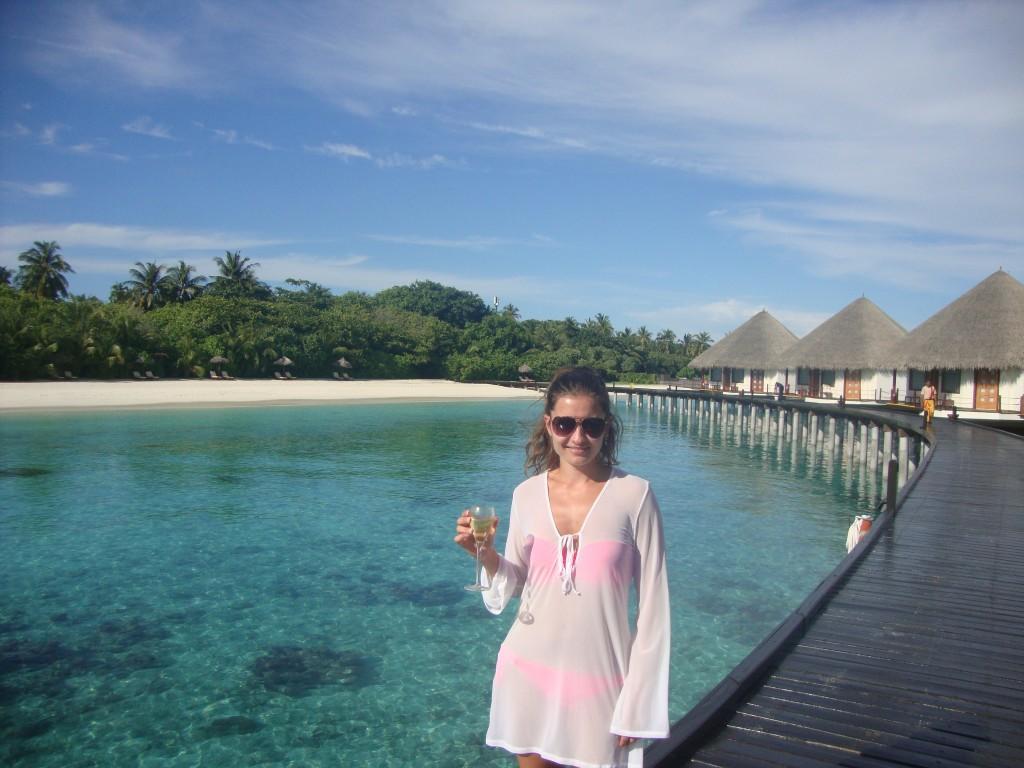 Tamara in the Maldives