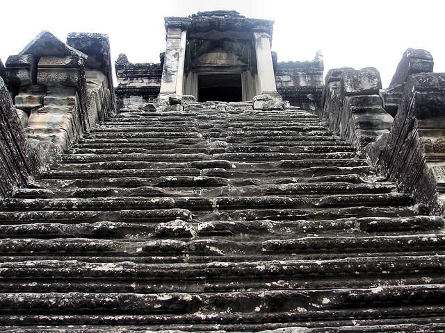 Angkor Wat Stairs Climb, Cambodia