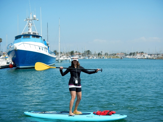 Annette White Paddle Boarding Oxnard Channel Islands
