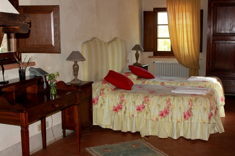 Bedroom at Villa Pipistrelli Tuscan Villa