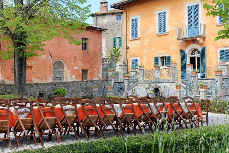 Tuscan Villa Courtyard in Italy