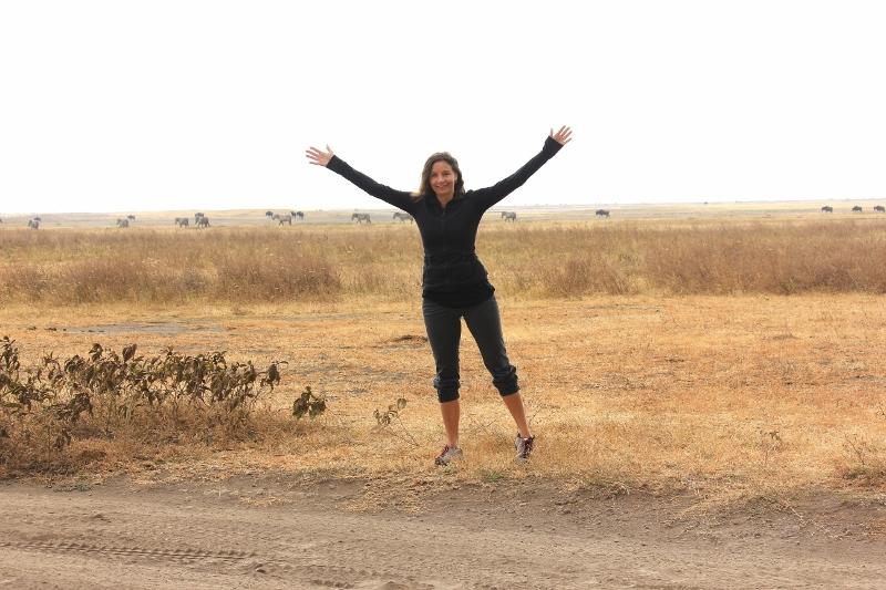 Annette White in Tanzania, Africa