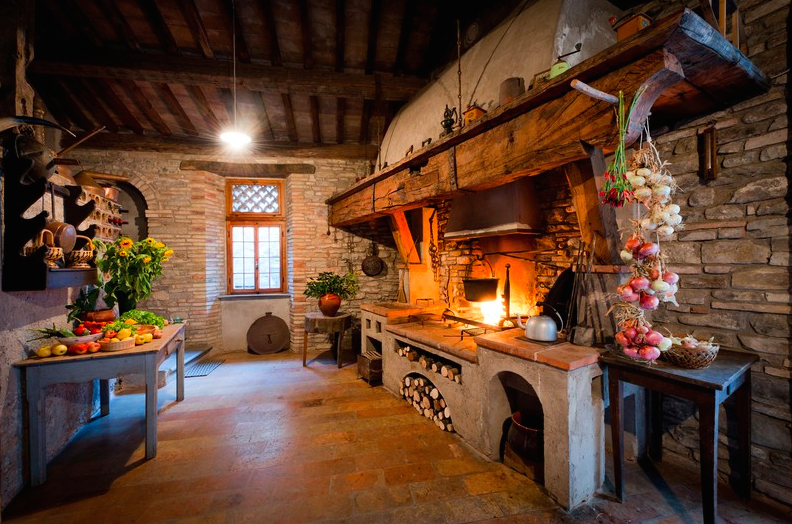 Rustic Kitchen In Le Marche, Northern Italy