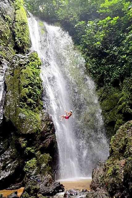 Rappel a Waterfall in Costa Rica