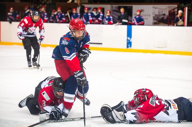 Winter Hockey Game