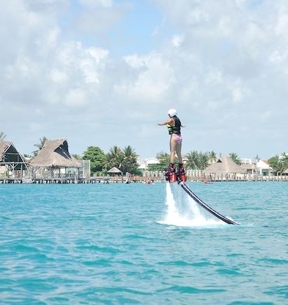 Things to do Before You Die: Annette White on a Flightboard Jetpack Cancun, Mexico