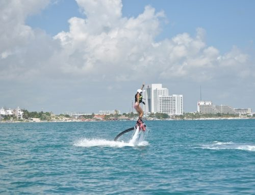 Take a Flyboarding Water Jetpack Flight. Cancun, Mexico