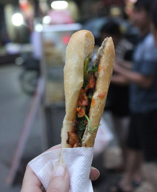 Banh Pate Street Food in Hanoi, Vietnam