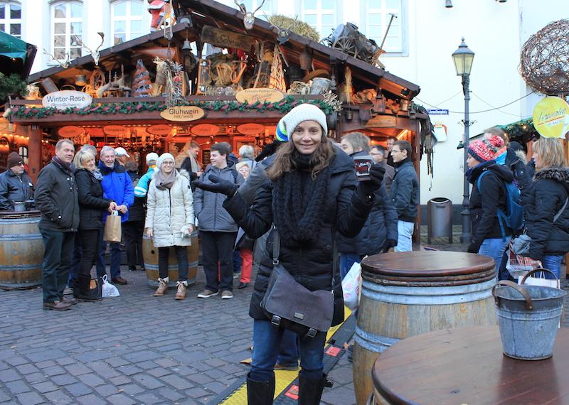 Annette White Drinking Gluhwein on a Rhine River Cruise