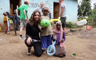 Annette White at Kibowa Orphanage in Tanzania Africa