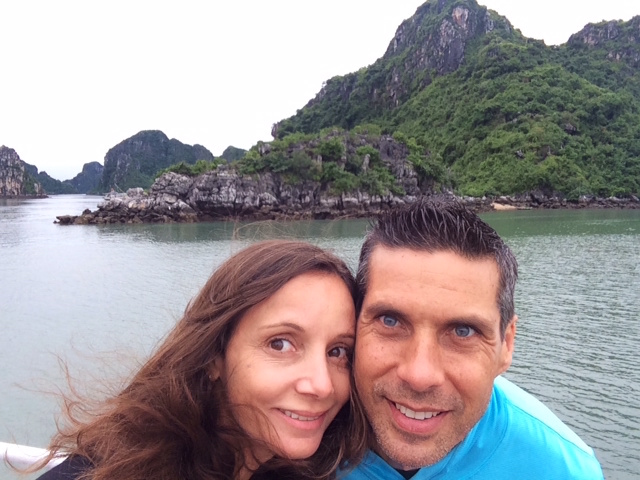 Annette White in Ha Long Bay Vietnam