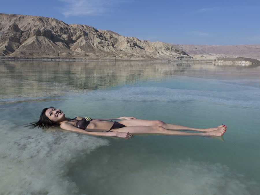 floating in the dead sea Israel