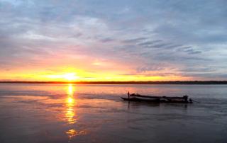 Jungle Sunset in the Peruvian Amazon