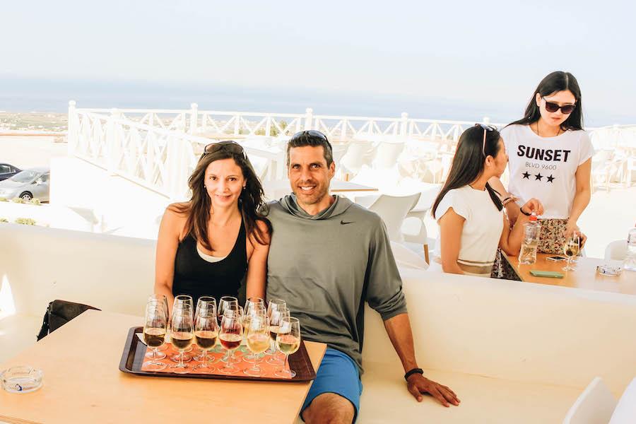 Taste Greek Wine at Santo Wines Winery in Santorini