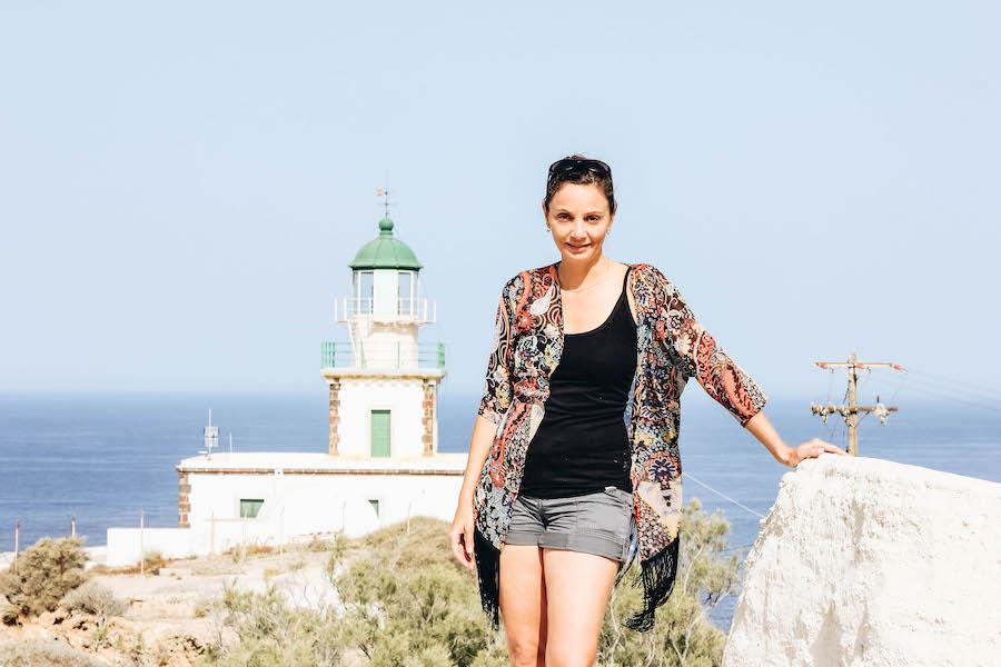 Annette White at Akrotiri Lighthouse