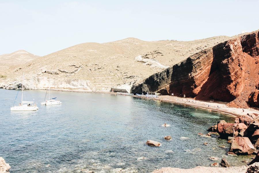 Santorini Island's Red Sand Beach