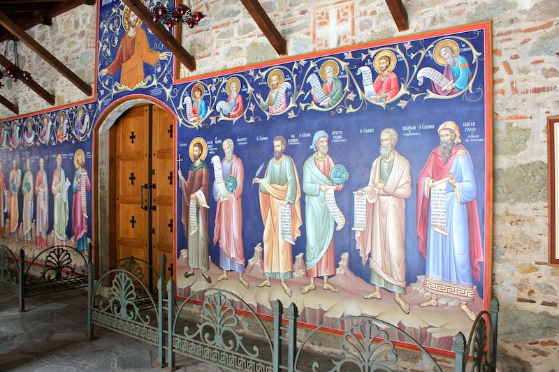 Inside the Meteora monasteries greece