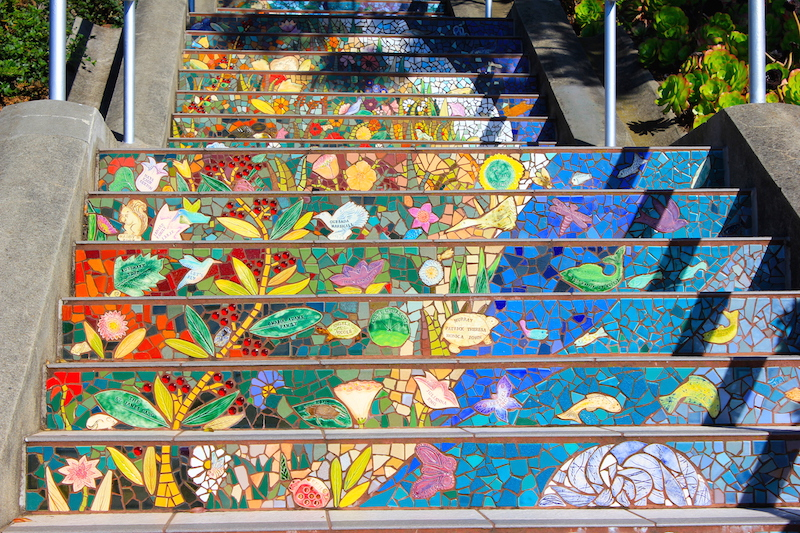 16th Avenue Tiled Steps | San Francisco Bucket List: 60 Best Things to Do in the Fun City of SF