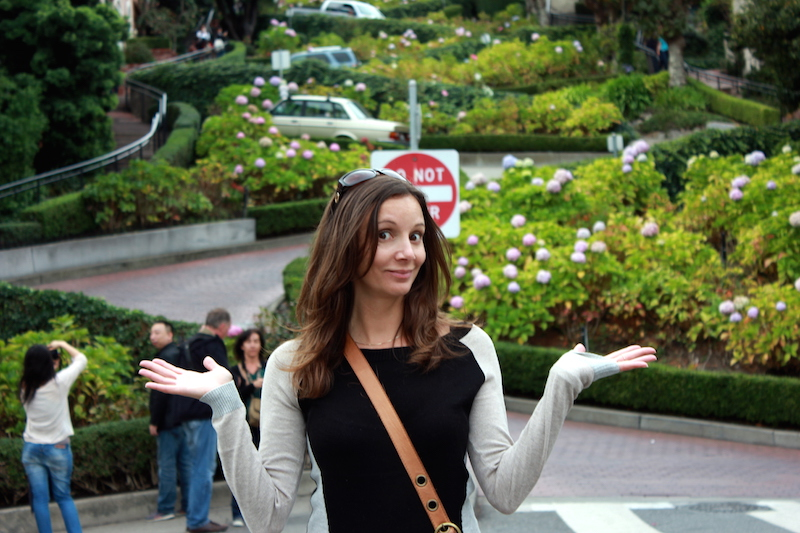 Annette White on Lombard Street | San Francisco Bucket List: Best Things to Do in the Fun City of SF
