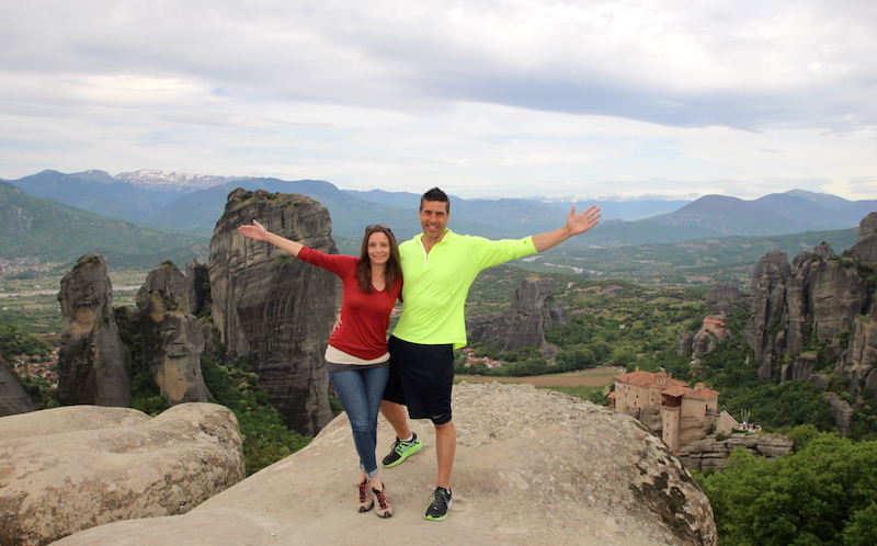 Annette White at the Meteora Monasteries in Greece
