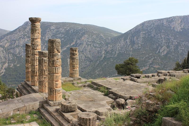 Temple of Apollo at Delphi in central Greece
