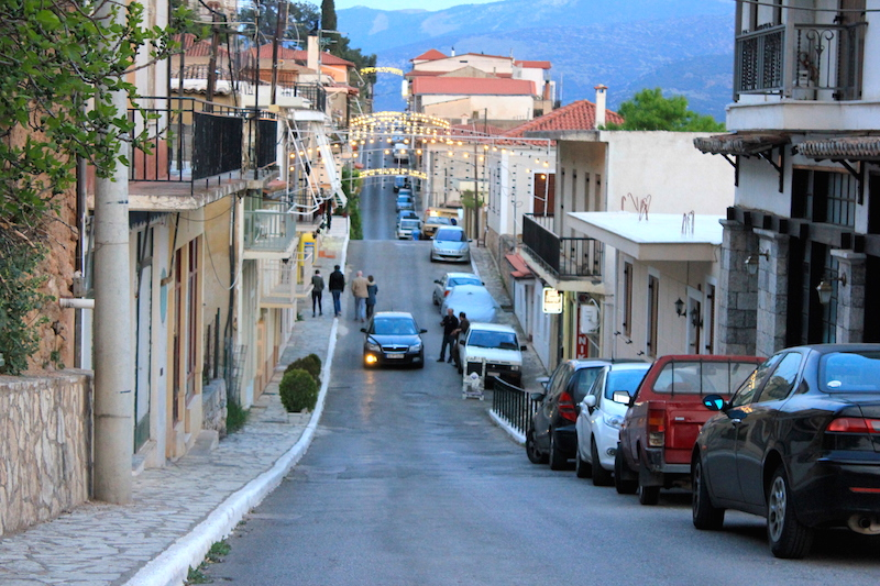 The Village of Delphi in Central Greece