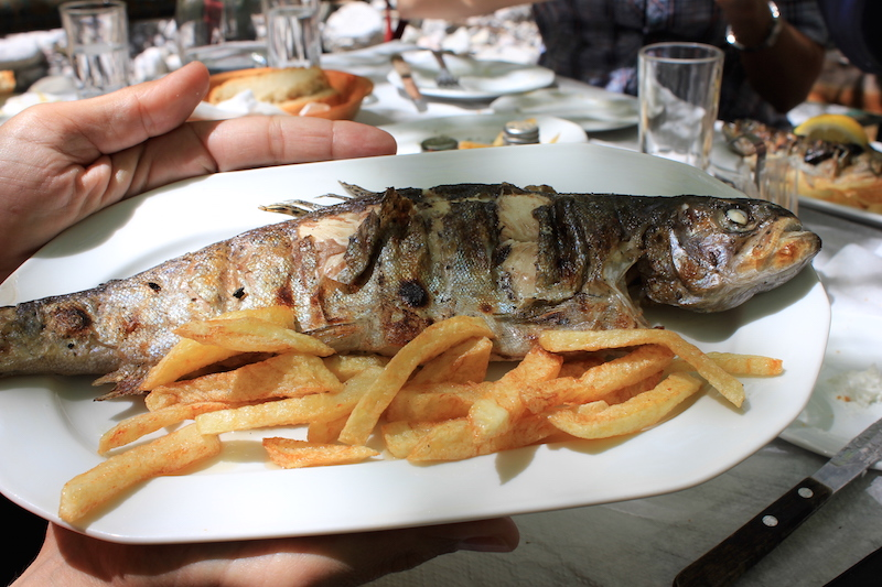 Whole Fish Dinner in Greece