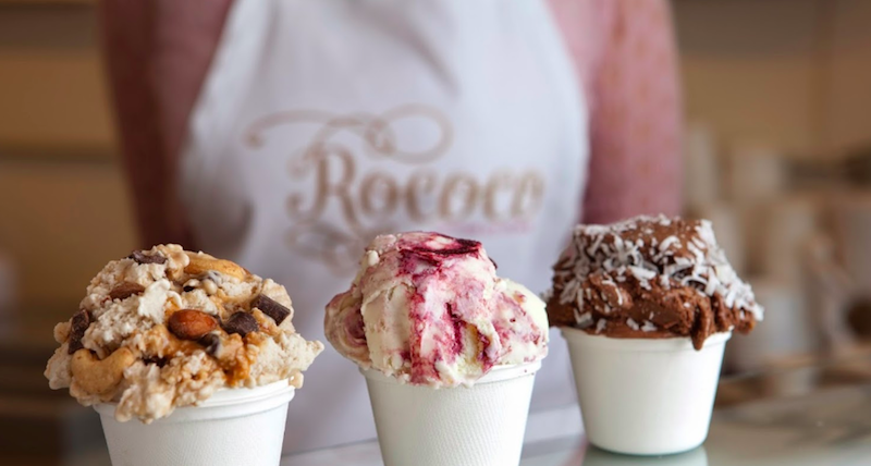Ice Cream at Rococo in Kennebunkport
