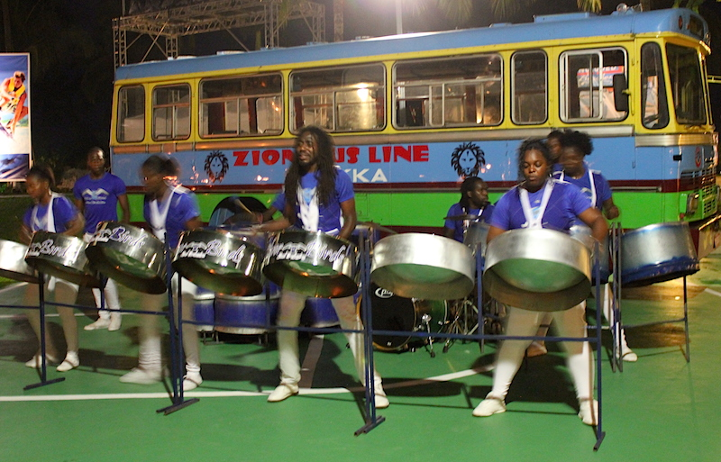 Drum players at Sandals in Jamaica