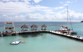 The ocean at Sandals Ochi in Jamaica
