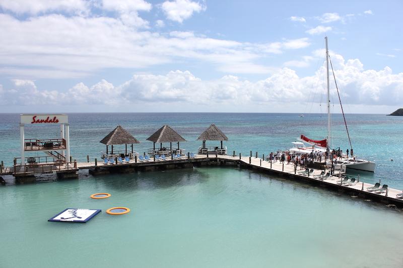 The ocean at Sandals Ochi in Jamaica