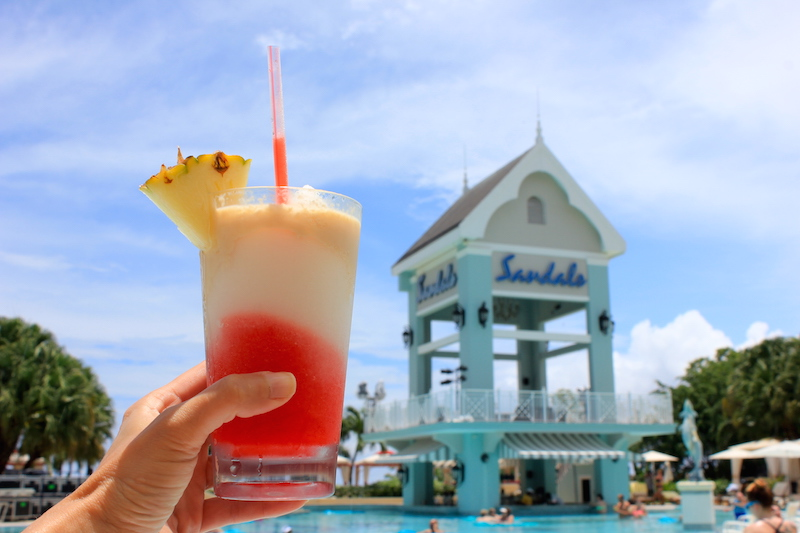 A Jamaican Smile cokctail at Sandals