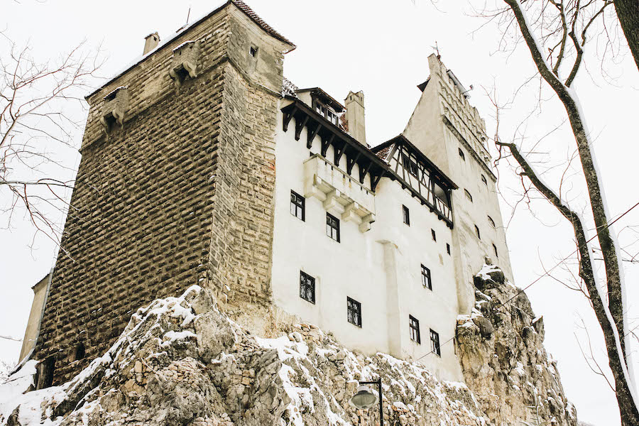 View of Bran Castle from below
