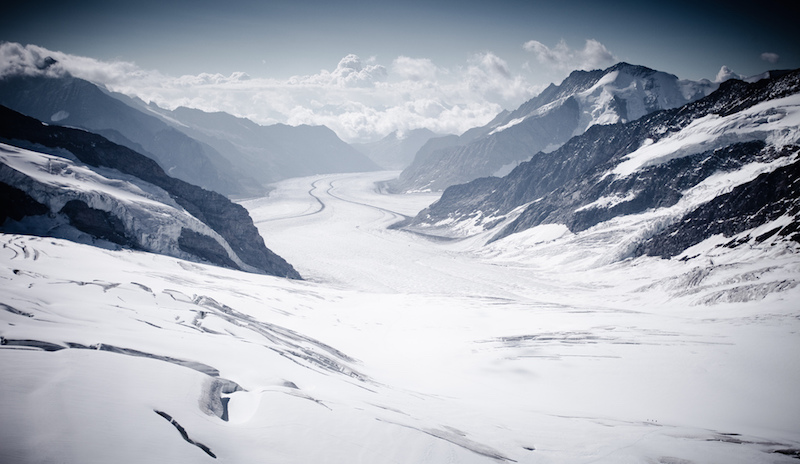 View from Jungfraujoch in Switzerland