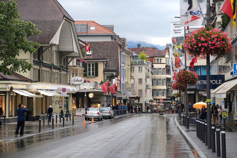 The town of Interlaken, the gateway to the Swiss Alps