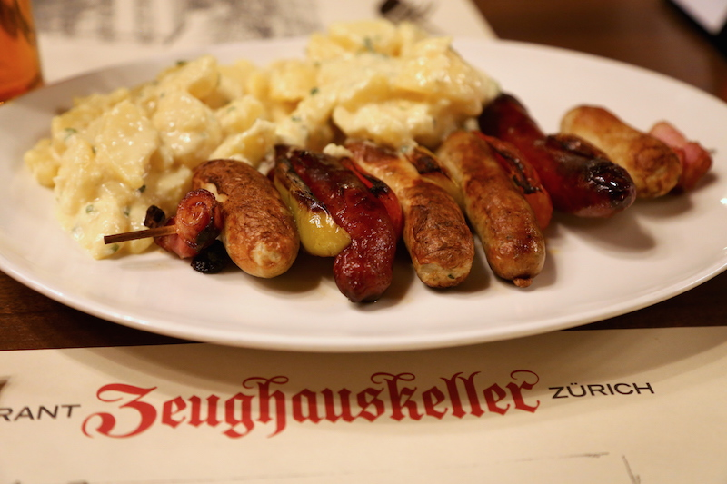 Sausage plate in Zurich, Switzerland