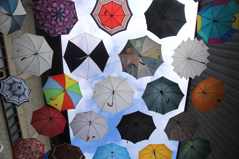 Gerold Cuchi umbrellas in Zurich