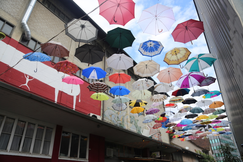 Gerold Cuchi umbrellas in Zurich Switzerland