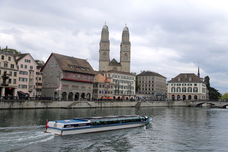 Zurich Things to Do: A Flat Boat Ride on the Limmat River