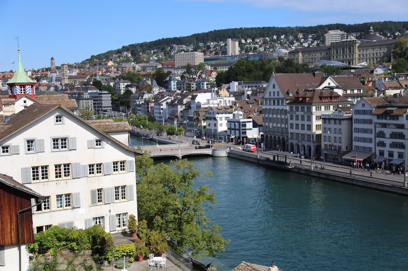 View of the Zurich Old Town Altstadt
