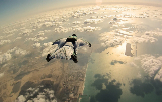 Flying in a windsuit in Dubai