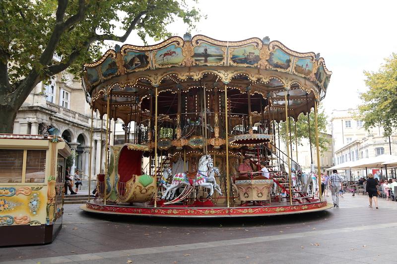 Avignon Carousel in South of France