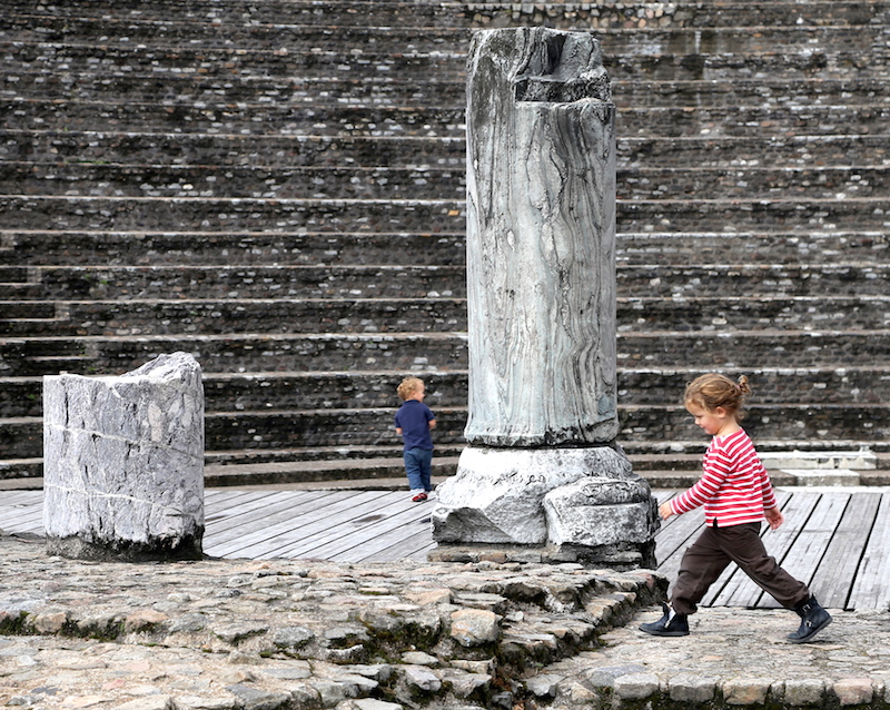Children at the Amphitheater in Lyon South of France