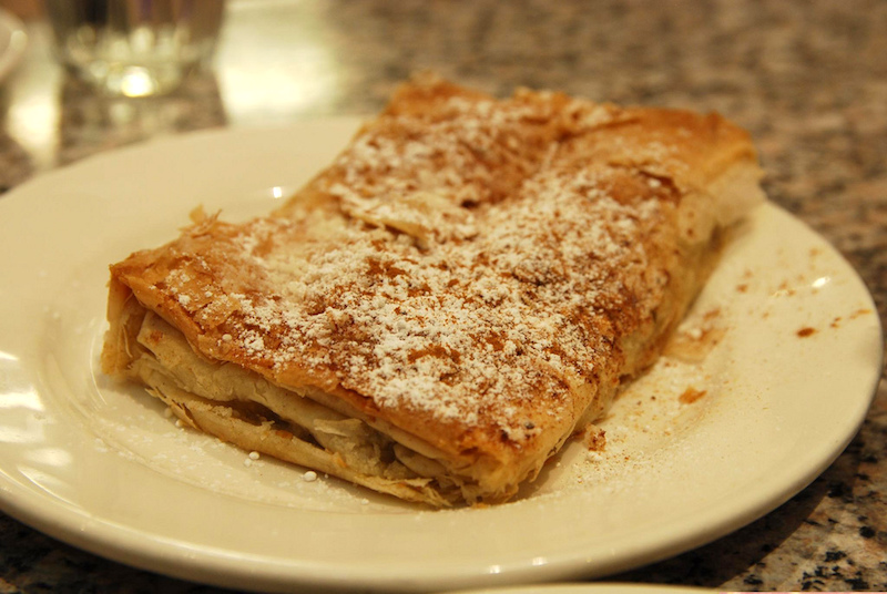 Traditional Dish in Greece Bougatsa