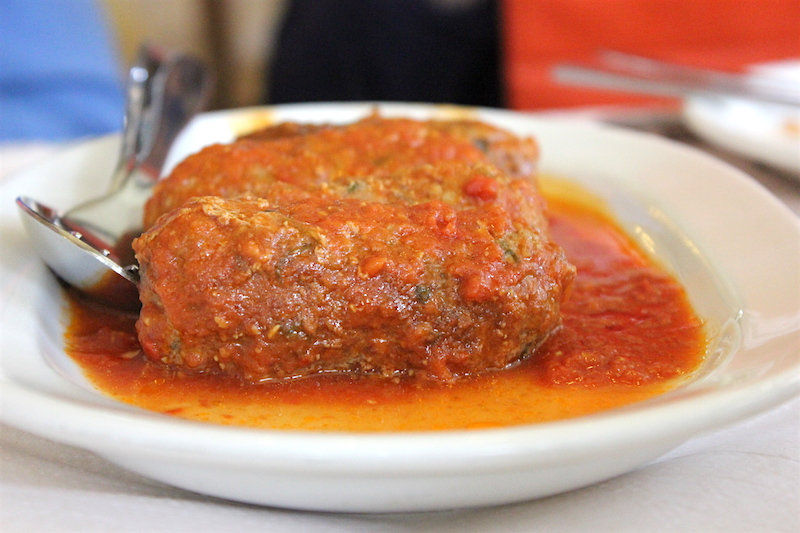 Traditional Greek Meatballs in Greece