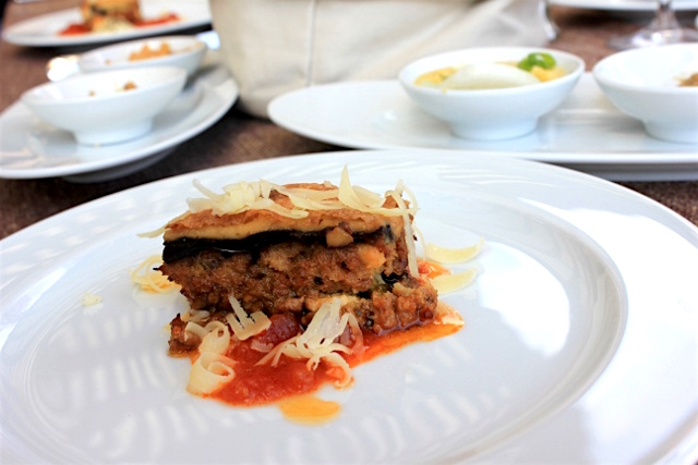 Eggplant Moussaka at Skites in Greece