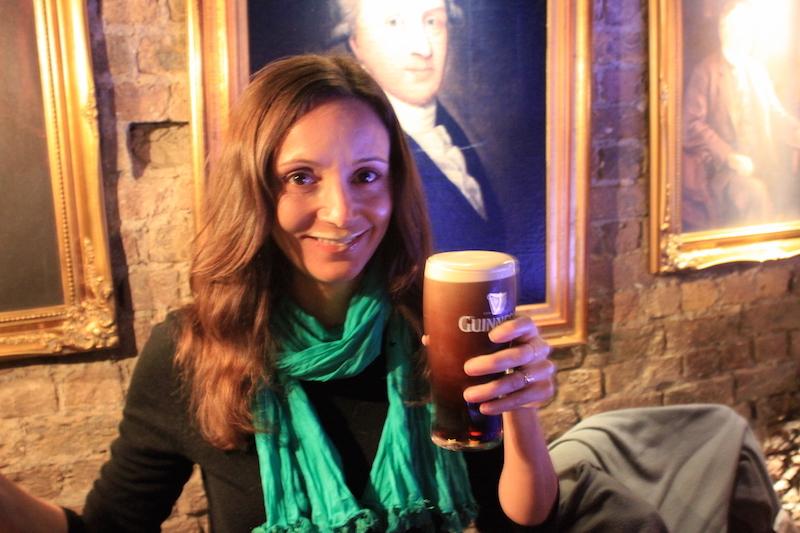 Annette White at guinness storehouse in dublin ireland