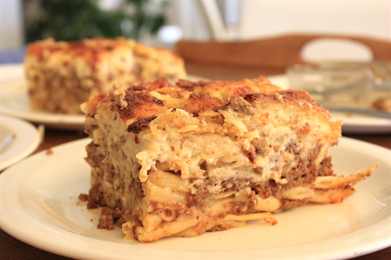 greek pastitsio in Greece